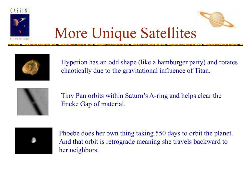 More Unique Satellites