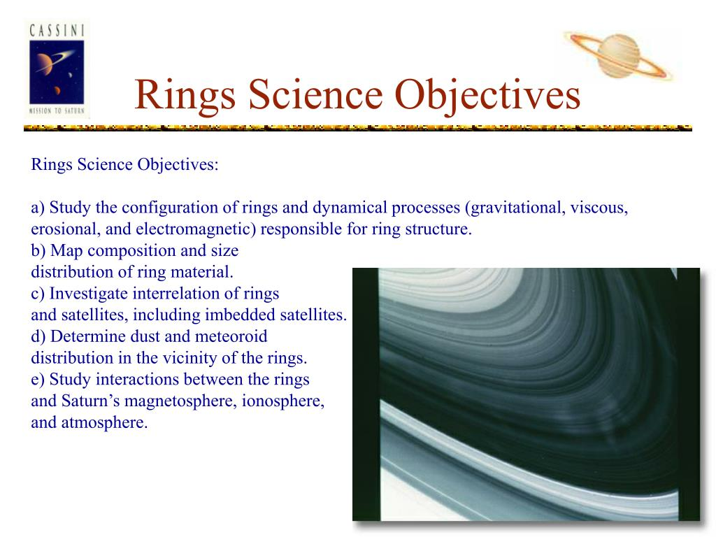 Rings Science Objectives