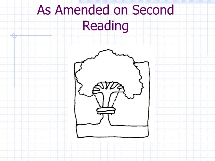 As Amended on Second Reading