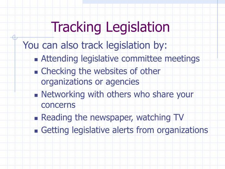 Tracking Legislation