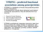 string predicted functional associations among genes proteins94