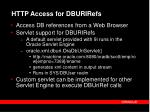http access for dburirefs