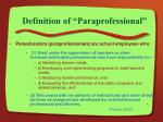 definition of paraprofessional