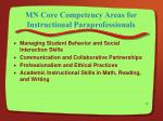 mn core competency areas for instructional paraprofessionals14