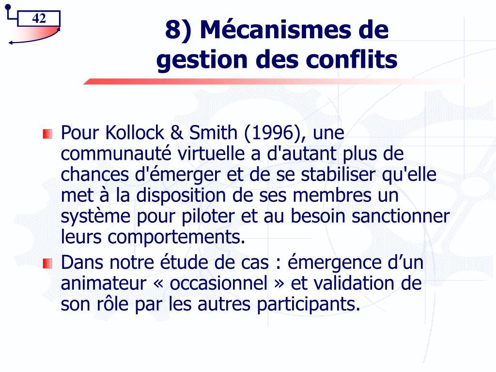 8) Mécanismes de