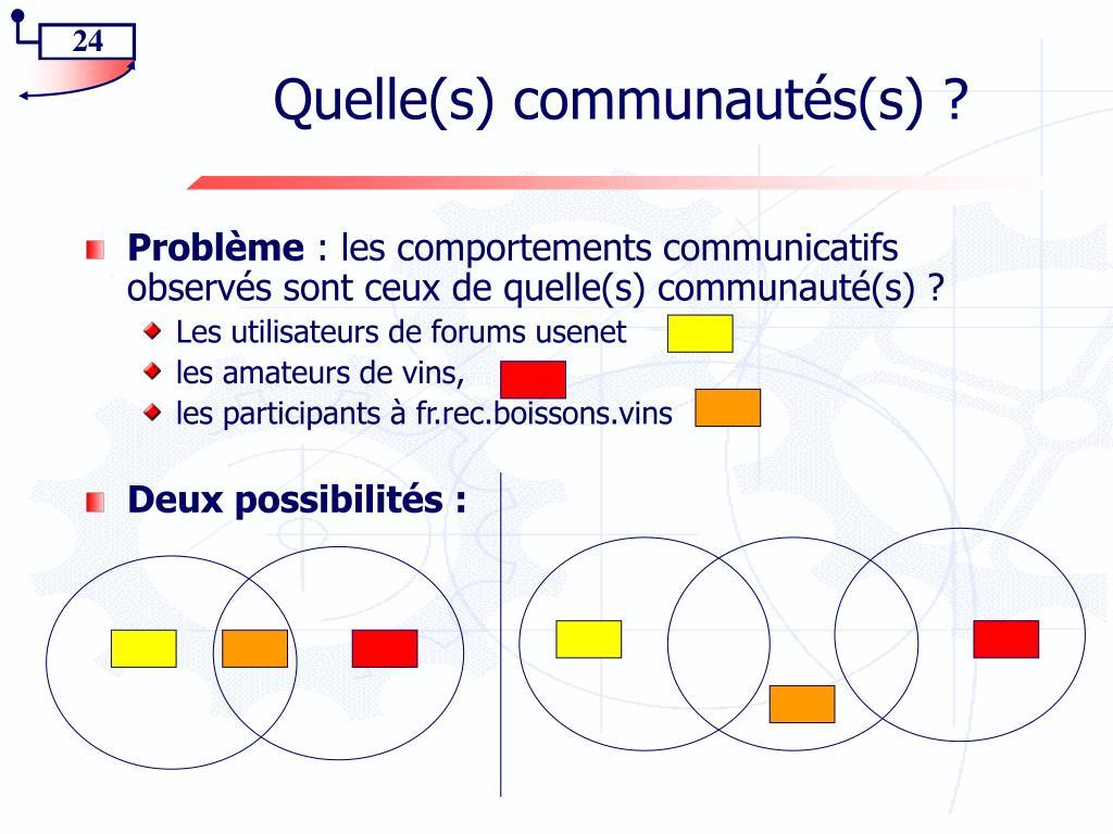 Quelle(s) communautés(s) ?