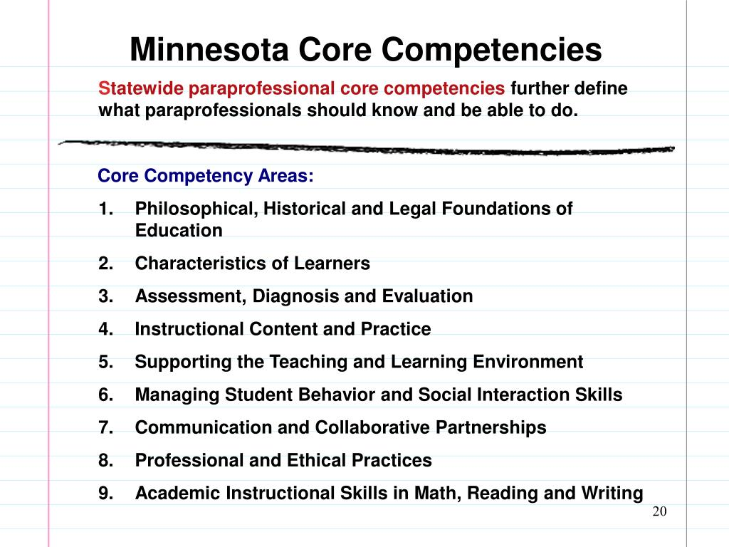 Minnesota Core Competencies
