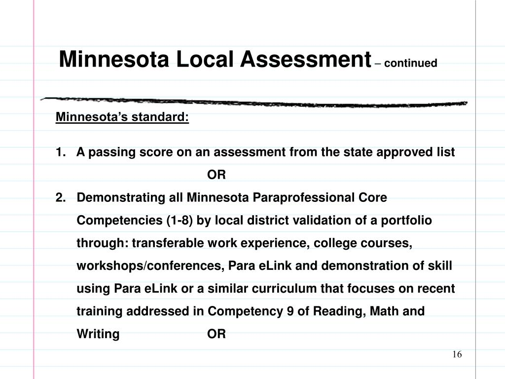 Minnesota Local Assessment