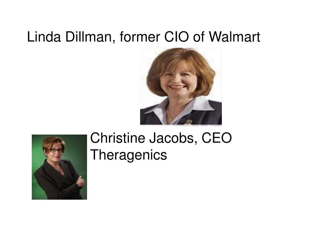 Linda Dillman, former CIO of Walmart