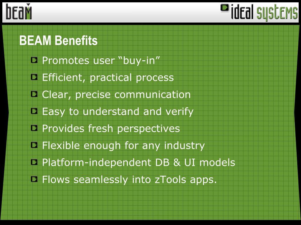 BEAM Benefits