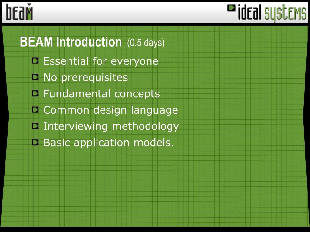 BEAM Introduction
