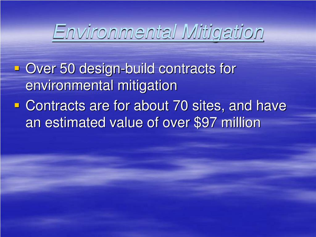 Environmental Mitigation