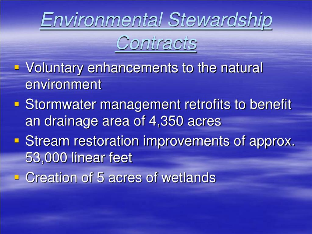 Environmental Stewardship Contracts