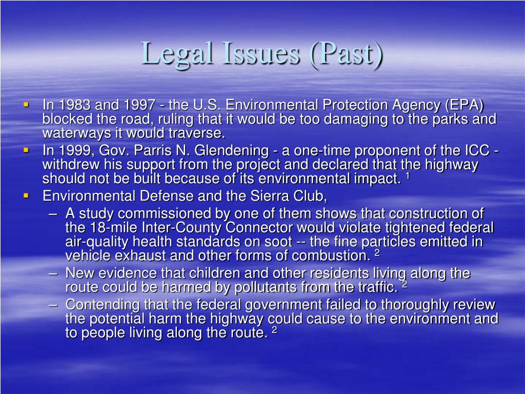 Legal Issues (Past)