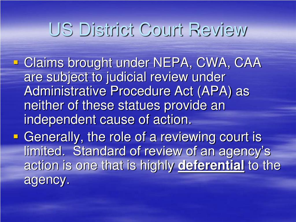 US District Court Review