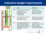 indicative budget requirements