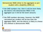 demonstrate fmoe either in the aggregate or per student with a disability swd 2
