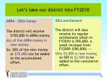 let s take our district into fy2010
