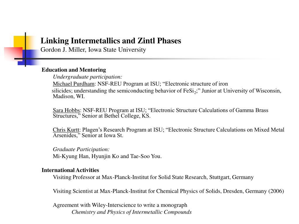 Linking Intermetallics and Zintl Phases