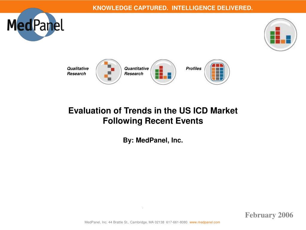evaluation of trends in the us icd market following recent events by medpanel inc