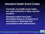 standard health event codes
