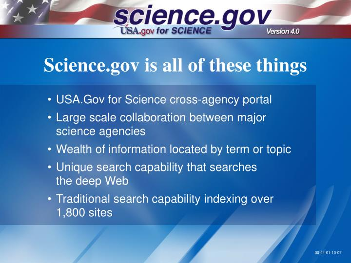 Science gov is all of these things