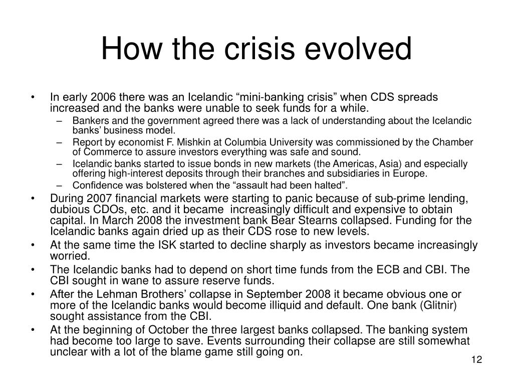 How the crisis evolved