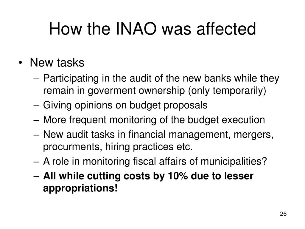 How the INAO was affected