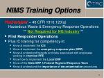 nims training options