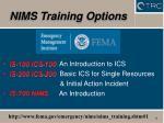 nims training options15