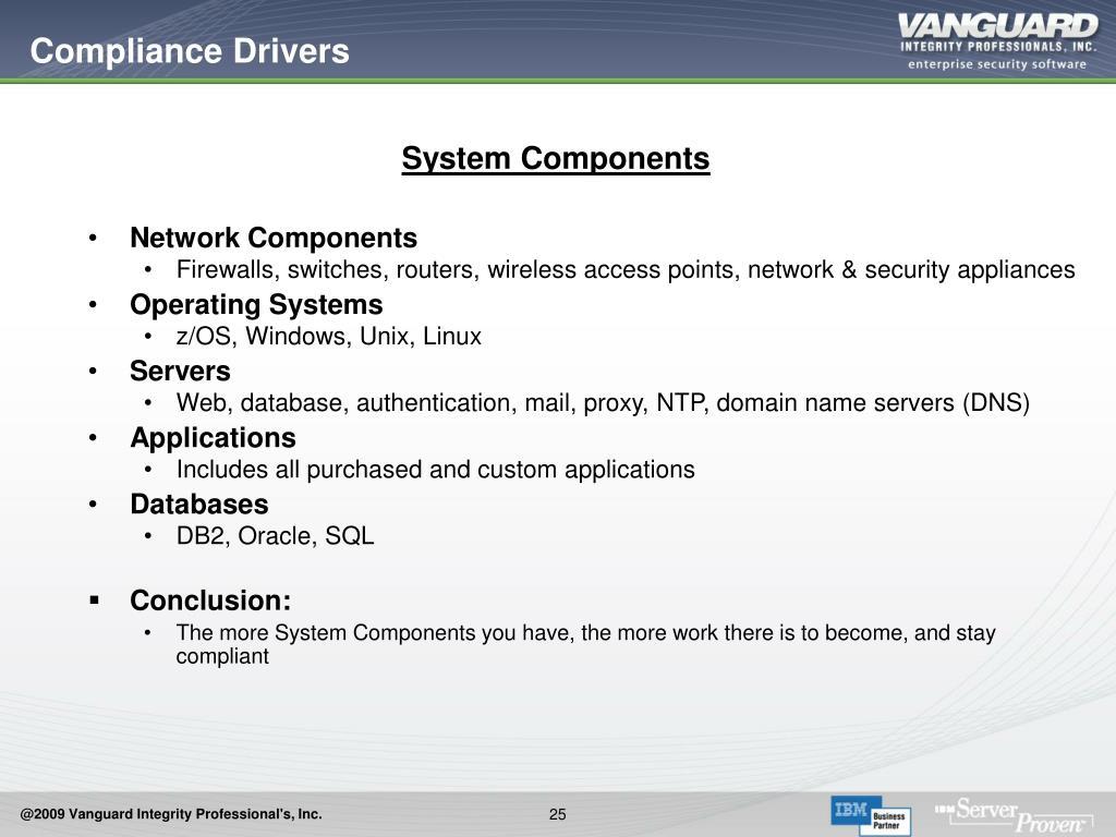 Compliance Drivers