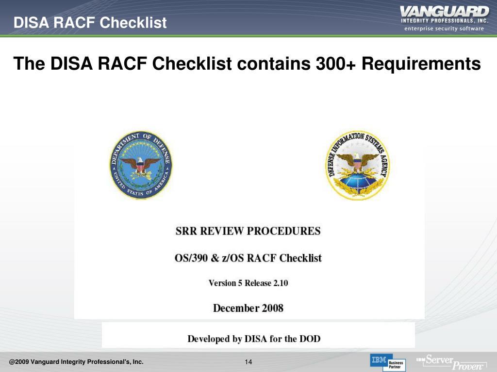 DISA RACF Checklist