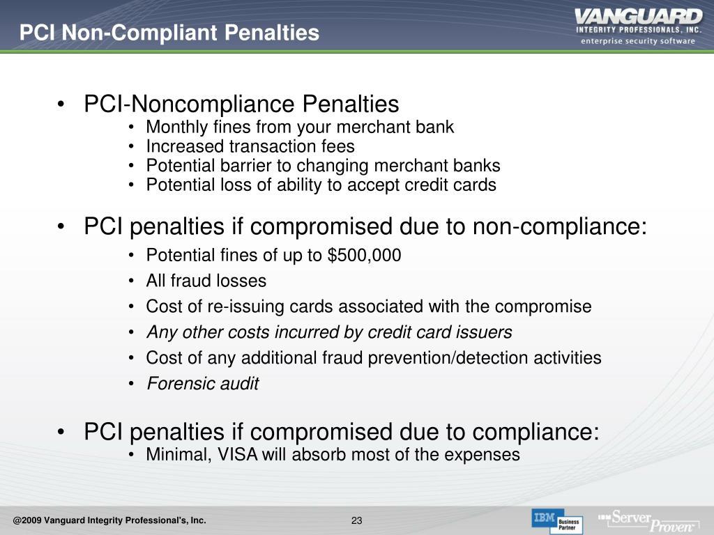 PCI Non-Compliant Penalties