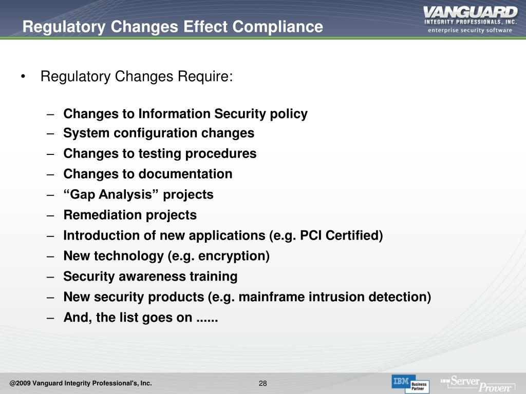Regulatory Changes Effect Compliance