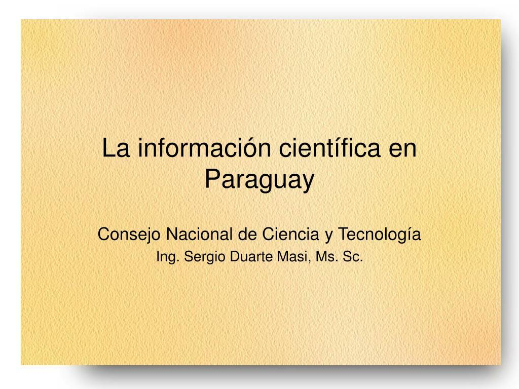 La información científica en Paraguay