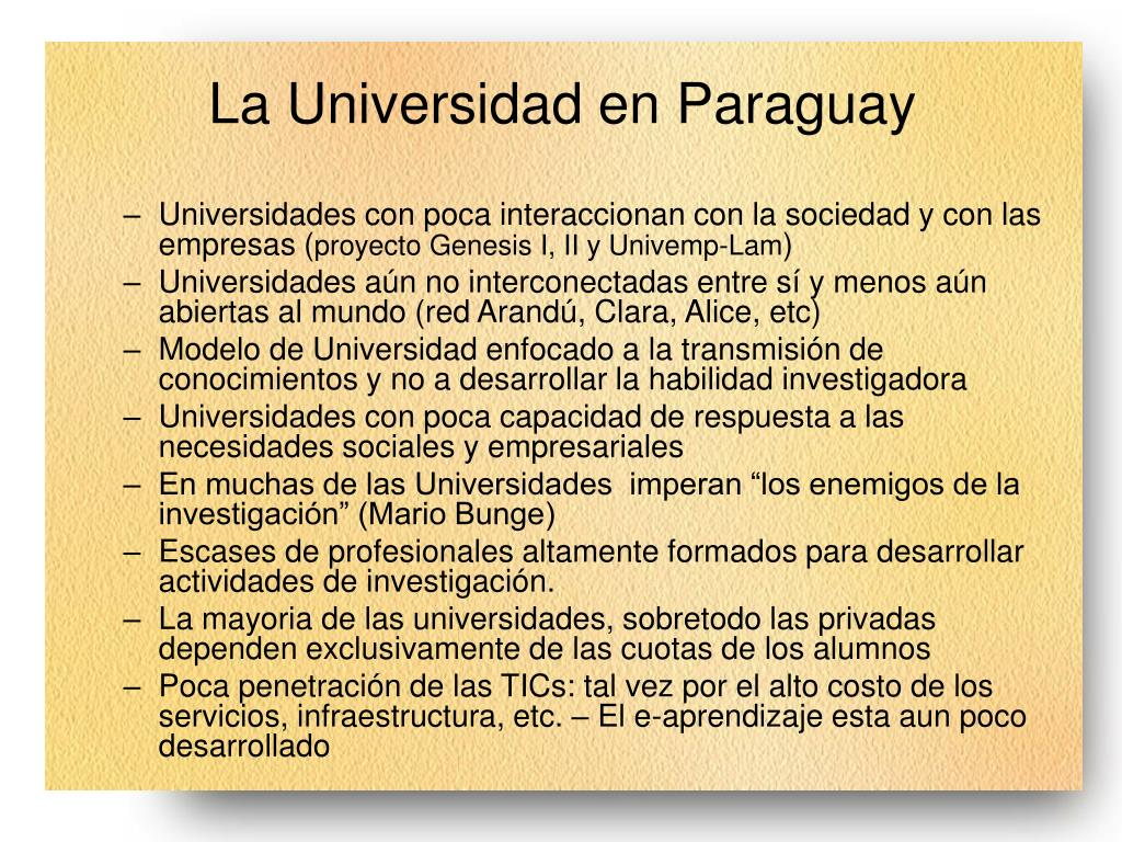 La Universidad en Paraguay