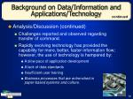 background on data information and applications technology22