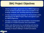 iba2 project objectives