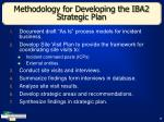 methodology for developing the iba2 strategic plan