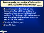recommendations on data information and applications technology28