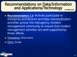 recommendations on data information and applications technology31