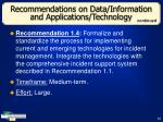 recommendations on data information and applications technology33
