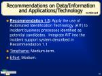 recommendations on data information and applications technology35