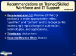 recommendations on trained skilled workforce and it support47