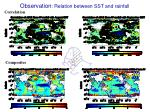 observation relation between sst and rainfall