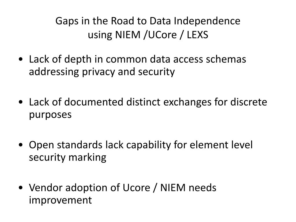 Gaps in the Road to Data Independence