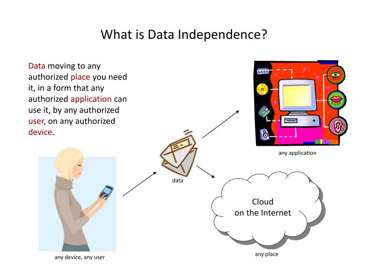What is data independence