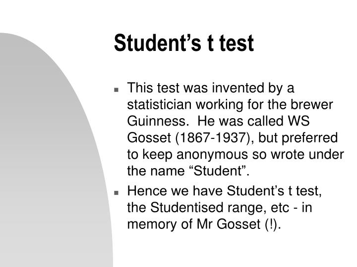 Student s t test