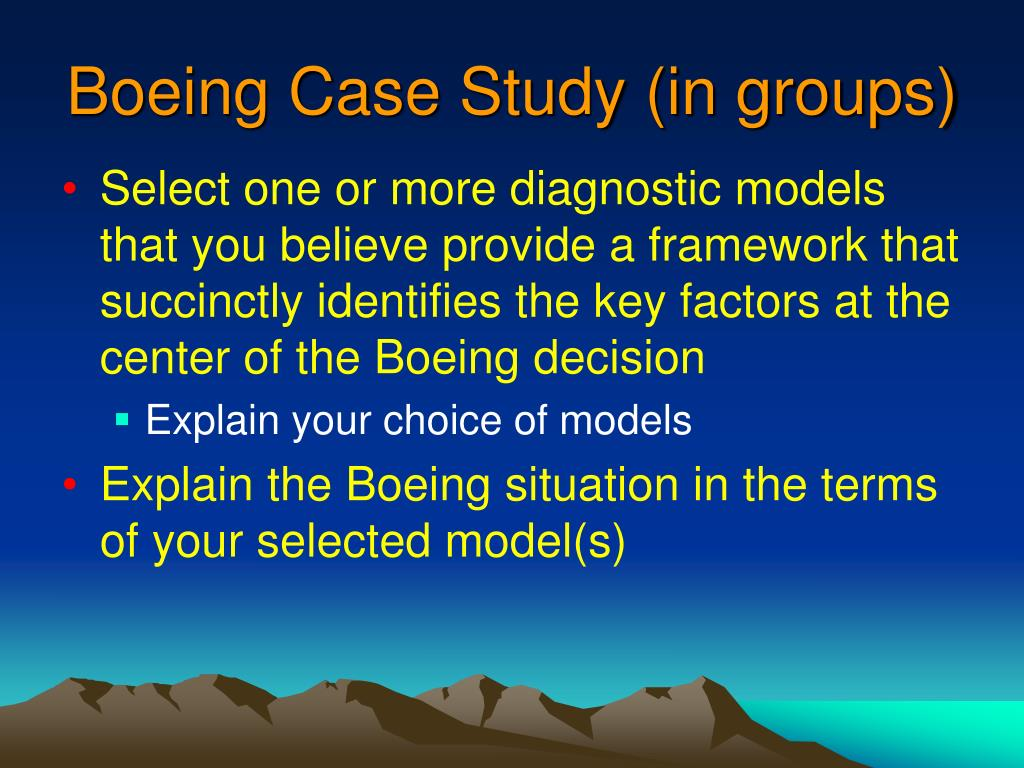 Boeing Case Study (in groups)
