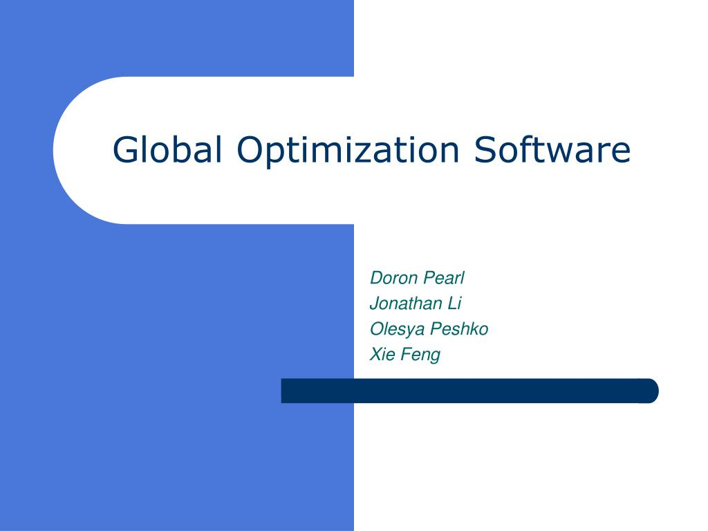 global optimization software l.
